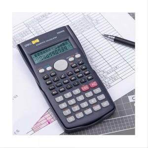 Deli Scientific Calculator 12-Digits Calculator ED82MS Dark Blue